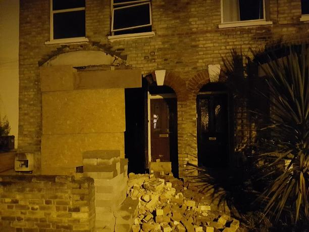 Shock after part of Barnet house collapses