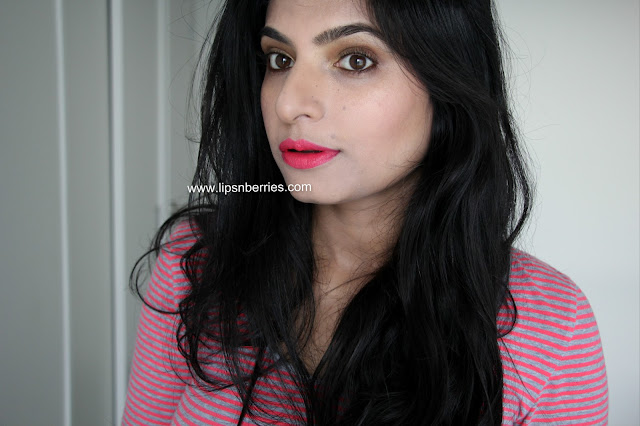Sleek lipstick Candy cane on indian skin