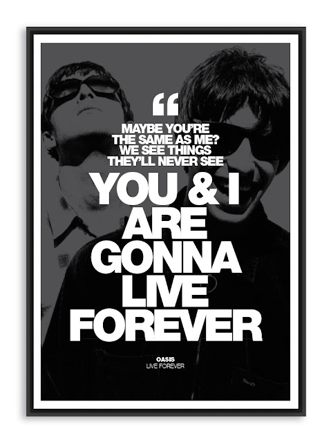 Oasis - Live Forever Poster Print