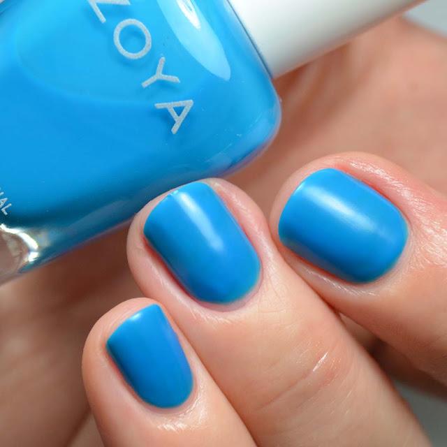 matte neon blue nail polish swatch