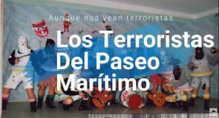 """Pasodoble con Letra """"Aunque nos vean terroristas"""". Chirigota """"Los terroristas del Paseo Marítimo"""" de Joaquín y Manuel Sánchez Alba (1987)"""