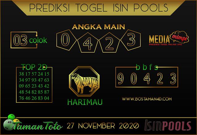 Prediksi Togel ISIN TAMAN TOTO 27 NOVEMBER 2020