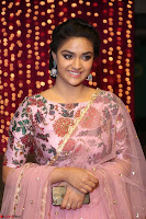 Keerthi Suresh Looks super cute in Designer Anarkali Dress at Zee Telugu Apsara Awards 2017 01.JPG