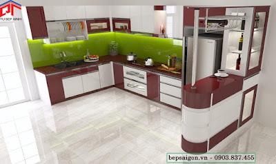 tu bep, tủ bếp hiện đại, tủ bếp acrylic