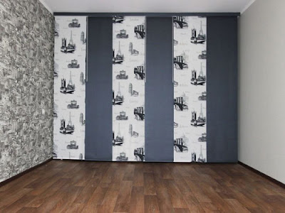 Japanese curtains, Japanese style curtain panels, Japanese door curtains