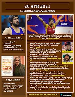 Daily Malayalam Current Affairs 20 Apr 2021