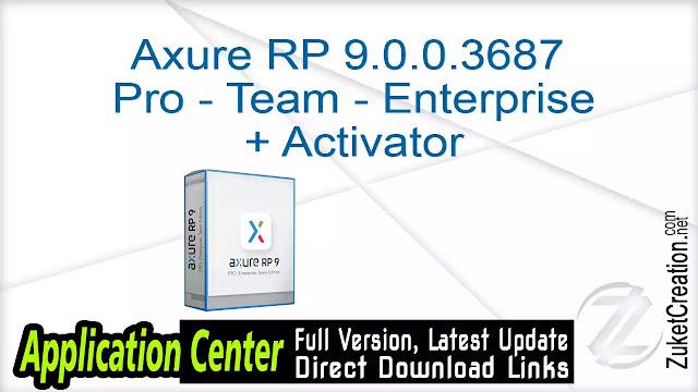Axure RP 9.0.0.3687 Pro Team Enterprise + Activator