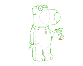 HOW TO DRAW A Brian Griffin