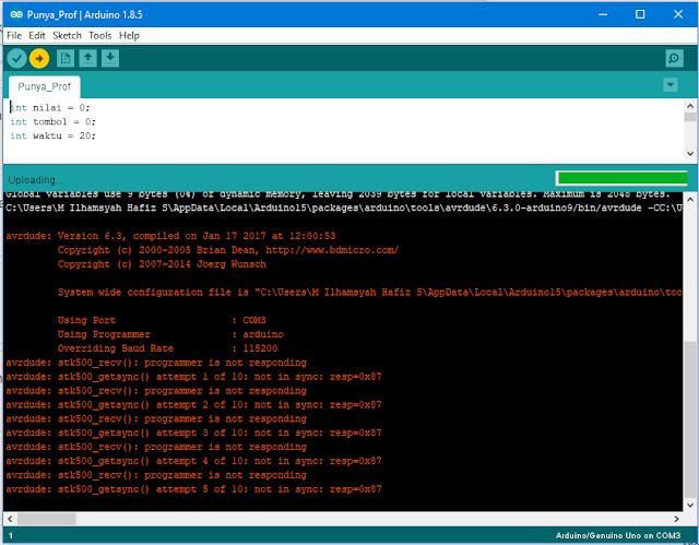Penyebab dan Cara Perbaiki avrdude: stk500_recv(): programmer is not responding Arduino