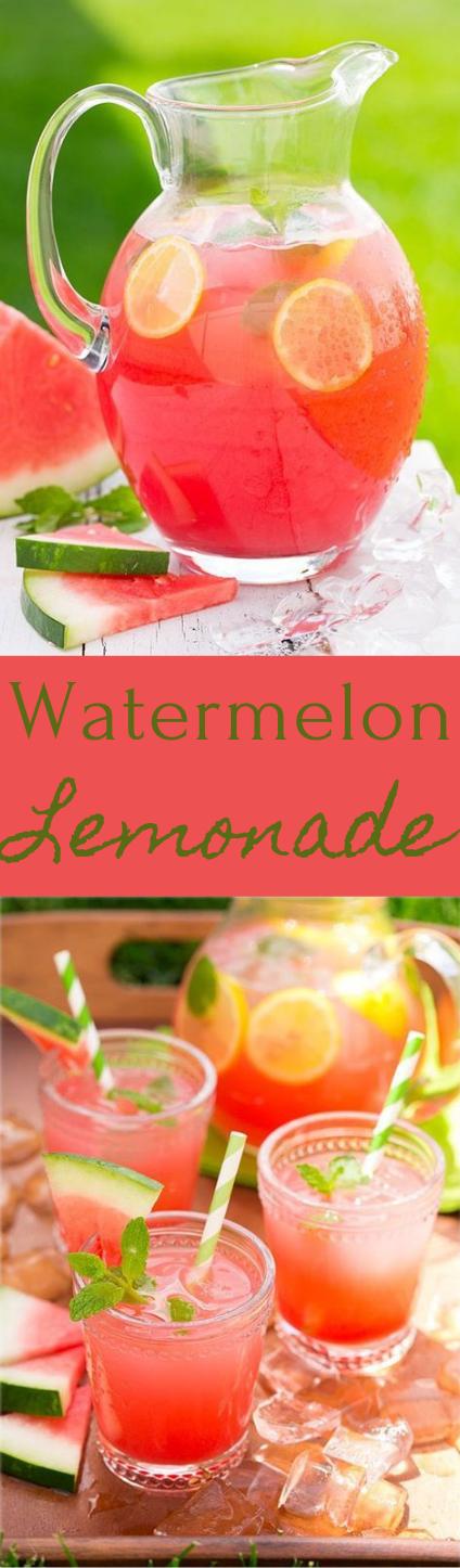 Watermelon Lemonade #lemonade #drink