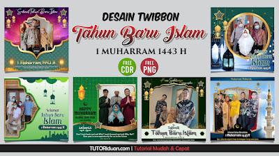Twibbon Tahun Baru Islam 1443 H PNG