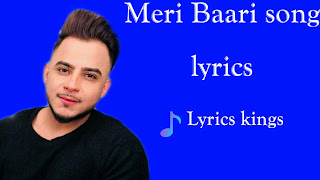Meri Baari song lyrics (Millind Gaba)