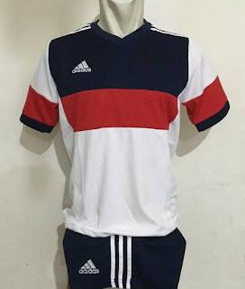 gambar desain terbaru jersey musim depan futsal Adidas 2016 foto kamera Setelan jersey Futsal Adidas Konn Putih di enkosa sport toko online terpercaya