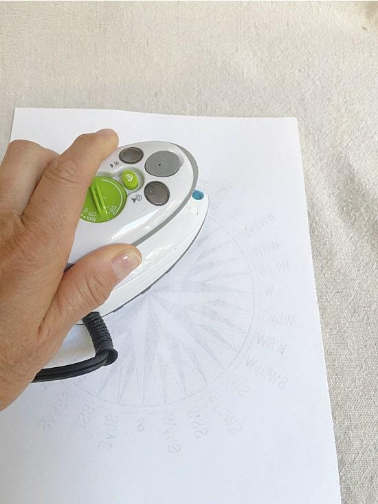 ironing onto muslin