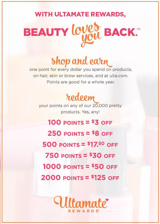 ulta rewards system points