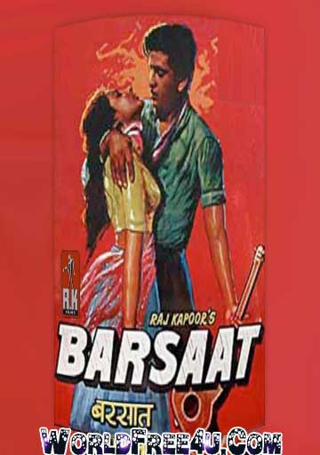 Poster Of Bollywood Movie Barsaat (1949) 300MB Compressed Small Size Pc Movie Free Download worldfree4u.com