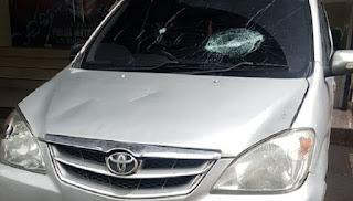 Ini Mobil Anggota FPl yang Ditembak Polisi, Peluru Tembus Kaca Depan
