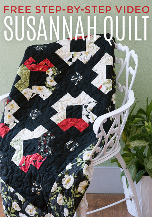 The Susannah Quilt Free Tutorial designed by Jenny of Missouri Quilt Co