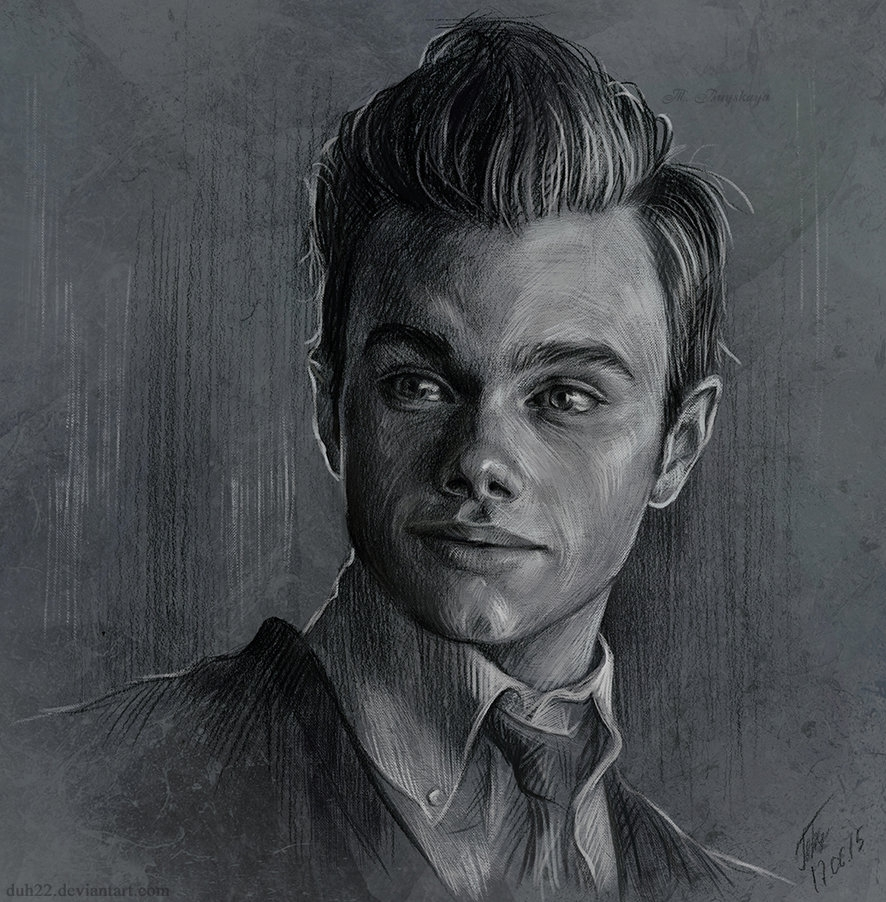 06-Kurt-Hummel-Tatyana-Buyskaya-Duh22-Pencil-and-Charcoal-Portrait-Drawings-www-designstack-co