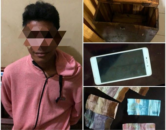 Tobat, Bawa Kabur Kotak Amal Masjid Dan HP, Pemuda Asal Woja Dompu, Diciduk Polisi