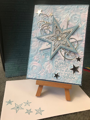 Bubble technique, Stitched stars, Andrea Sargent, Christmas, Stampin Up, Heart of Christmas 2019, Art with Heart, So Many Stars