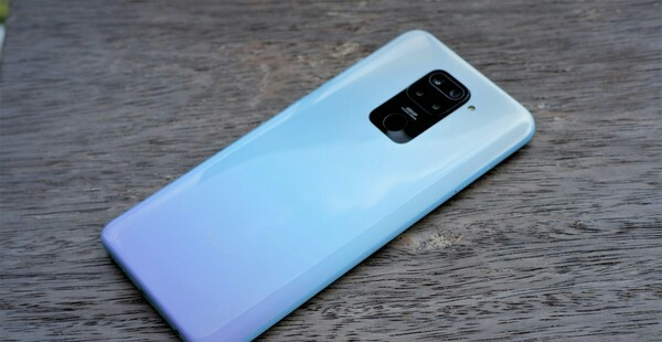 Redmi note 9 color Gradient White Purple