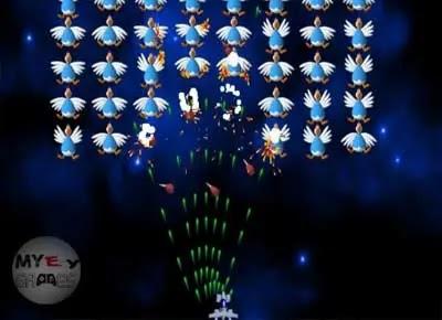 تنزيل لعبة الفراخ القديمة 1 Chicken Invaders كاملة للكمبيوتر