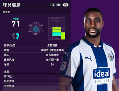 PES 2020 Faces Semi Ajayi by Obeymyself