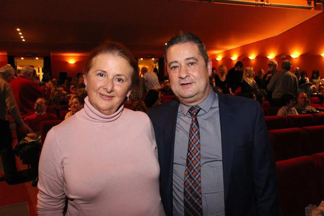 Mariví Verdú junto al presidente de Hijos de Almáchar, Manuel Sánchez