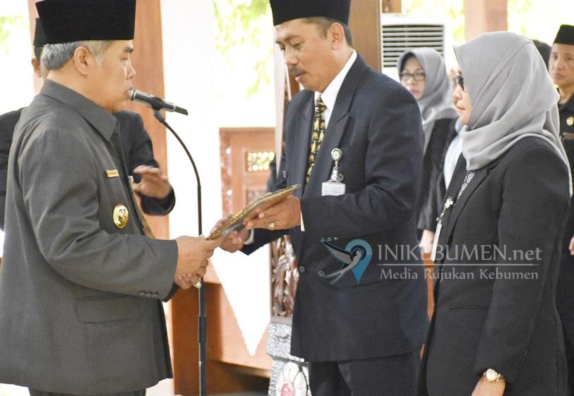 Empat Bulan Jelang Akhir Tahun, Bupati Kebumen Rotasi 38 Pejabat Baru
