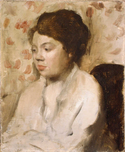 Эдгар Дега - Портрет молодой женщины (ок.1885)