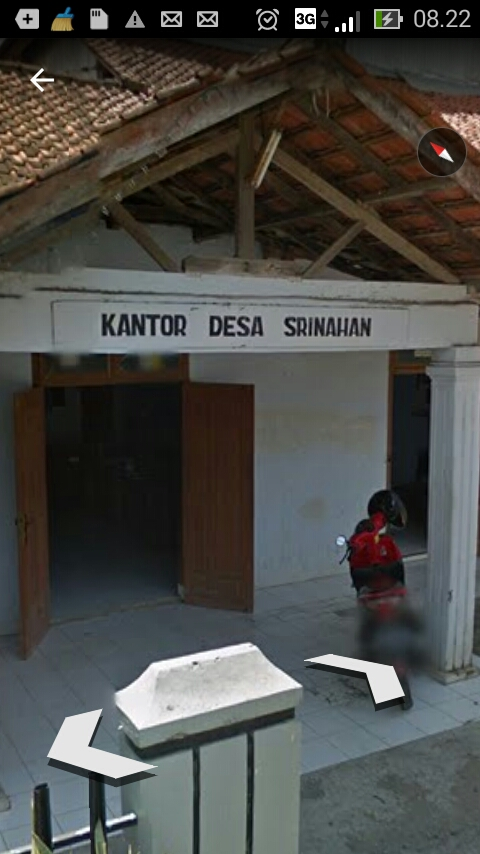 Desa Srinahan Kecamatan Kesesi di Lihat dari Google earth