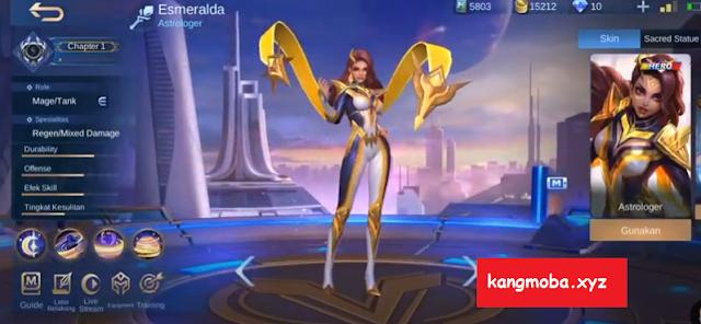 Script Skin Esmeralda Superhero The Foreseer Full Effect + Voice Mobile Legends