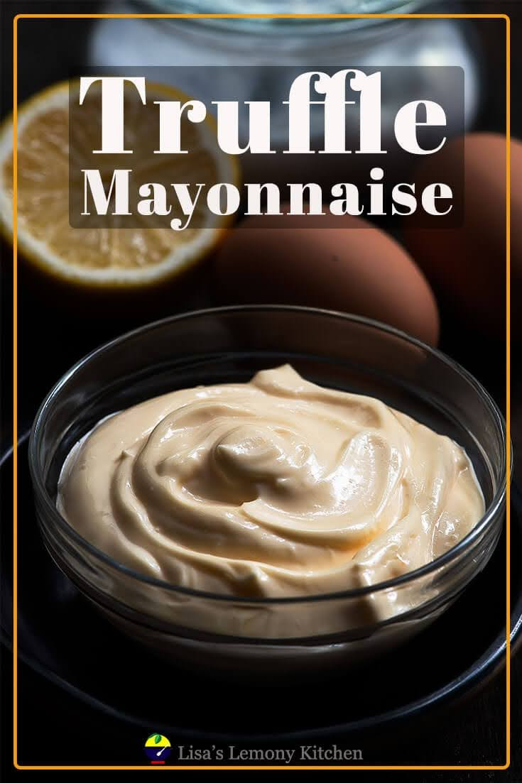 Truffle aioli is mayonnaise based sauce or spread infused with truffle oil (garlic is optional). Truffle aioli is delicious as dip with your favourite fried wings or use it as based for your egg sandwich.