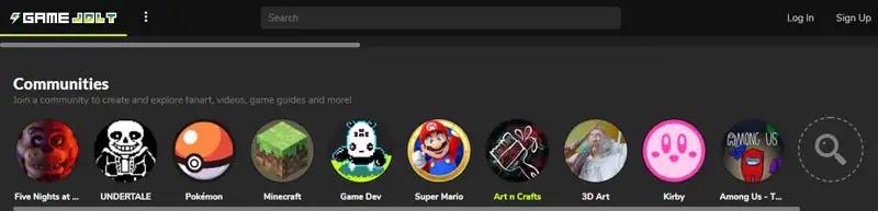 أولاً : موقع Game Jolt لتحميل الألعاب البسيطة للكمبيوتر