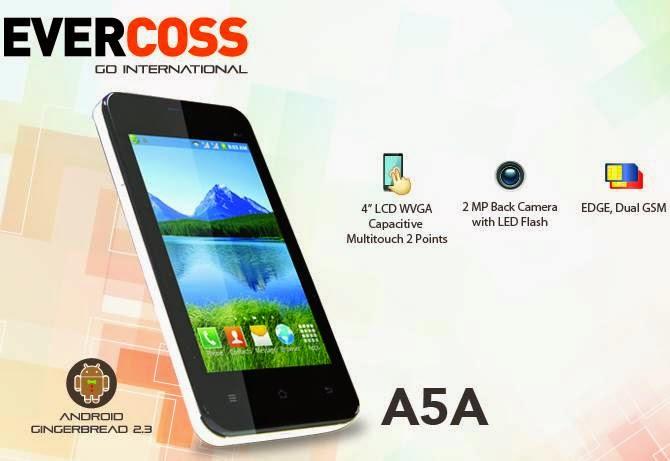 Handphone Evercoss A5A