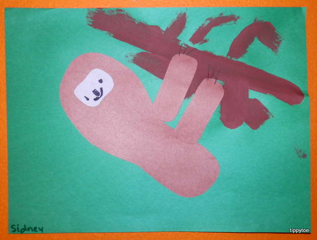 Sloth art project - photo#51