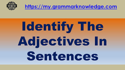 Identify The Adjectives In Sentences