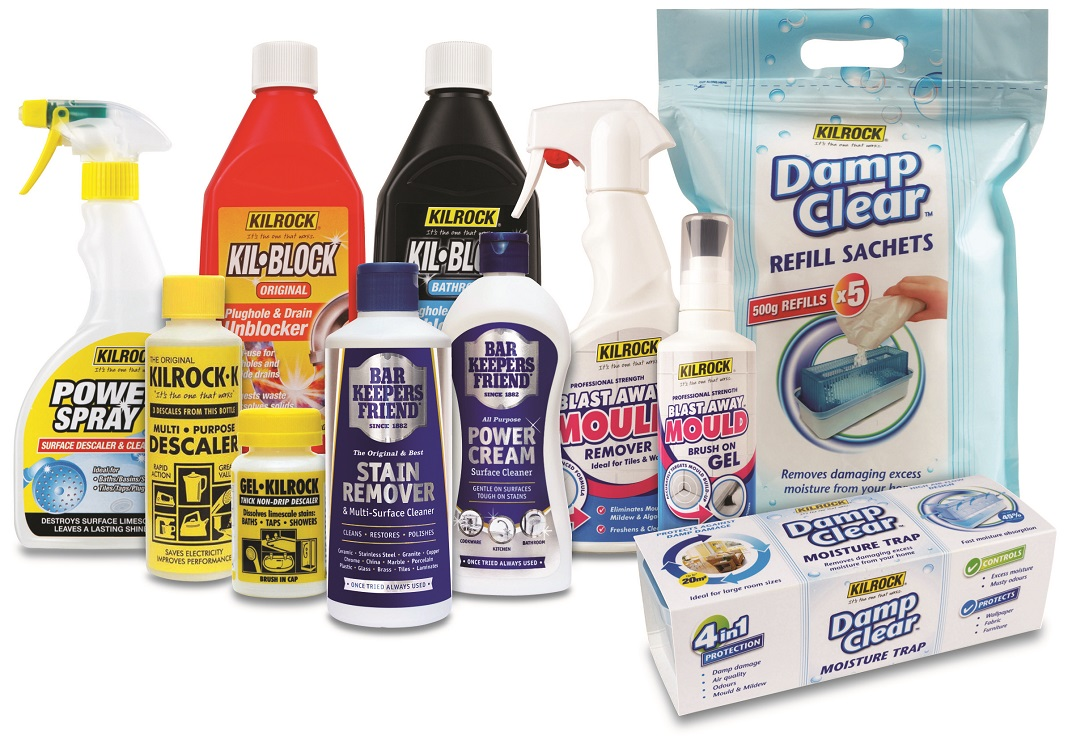 Selection of Kilrock Cleaning Products - spring cleaning tips