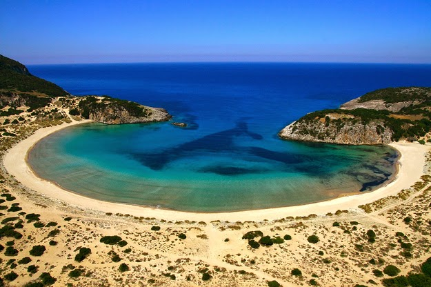 …ridiculously… (Voidokilia beach in the Messenia region of western Greece.) - 49 Reasons To Love Hellas (Greece)