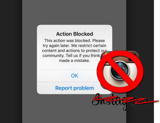 mengatasi instagram action blocked