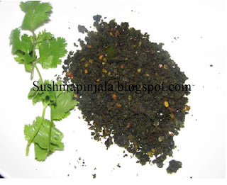 Spice powder with Cilantro/ Kothimeera Karam