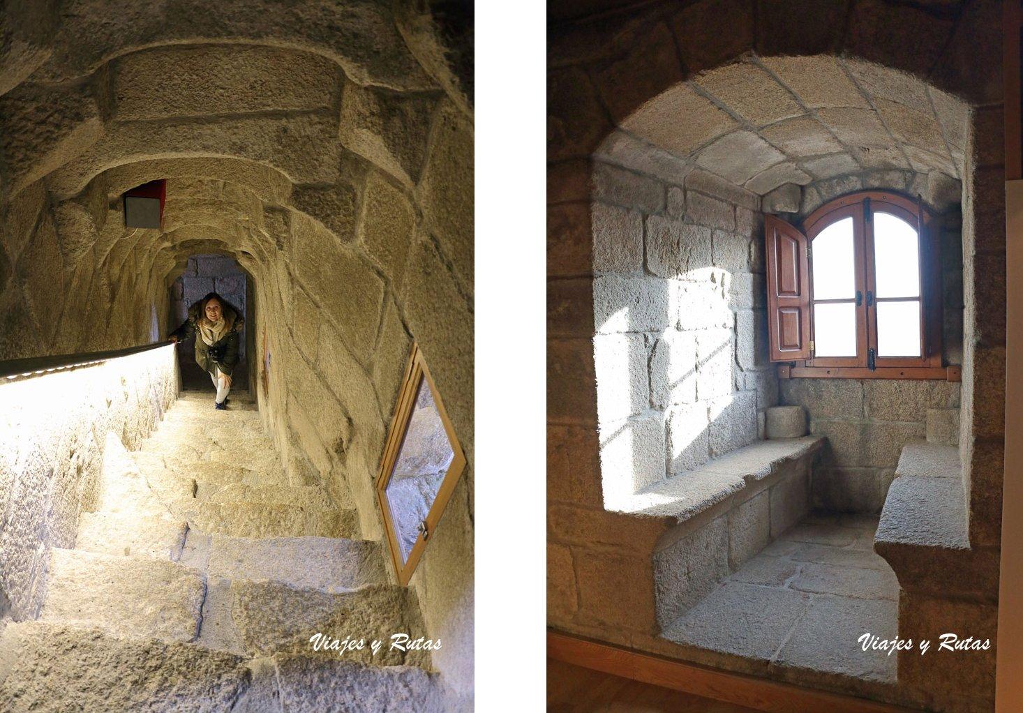 Parladoiro y escaleras del castillo de Castro Caldelas