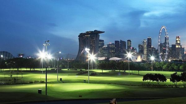 Marina Bay Golf Course sân golf 18 lỗ duy nhất ở Singapore