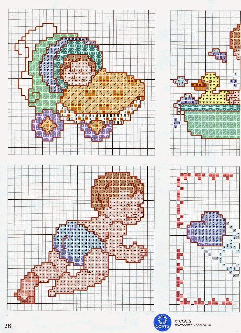 schemi punto croce neonati hl63 pineglen