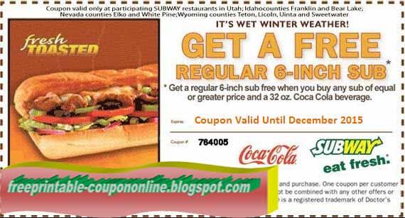 graphic regarding Printable Subway Coupons known as Printable Discount codes 2019: Subway Discount coupons