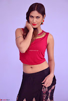 Nishi Gandha in Beautiful Red Crop Top ~  Exclusive 001.jpg
