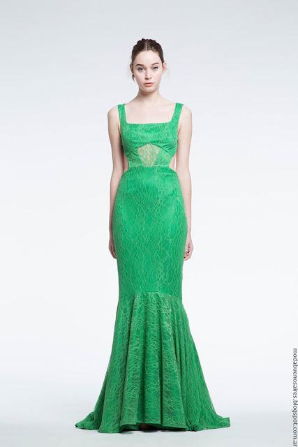 Moda verano 2017 Natalia Antolin. Moda primavera verano 2017 vestidos de fiesta largos de colores estridentes.
