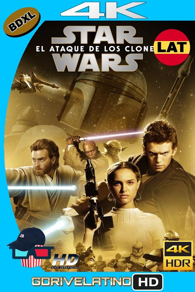 Star Wars : El Ataque de los Clones (2002) BDXL 4K UHD HDR Latino-Ingles ISO