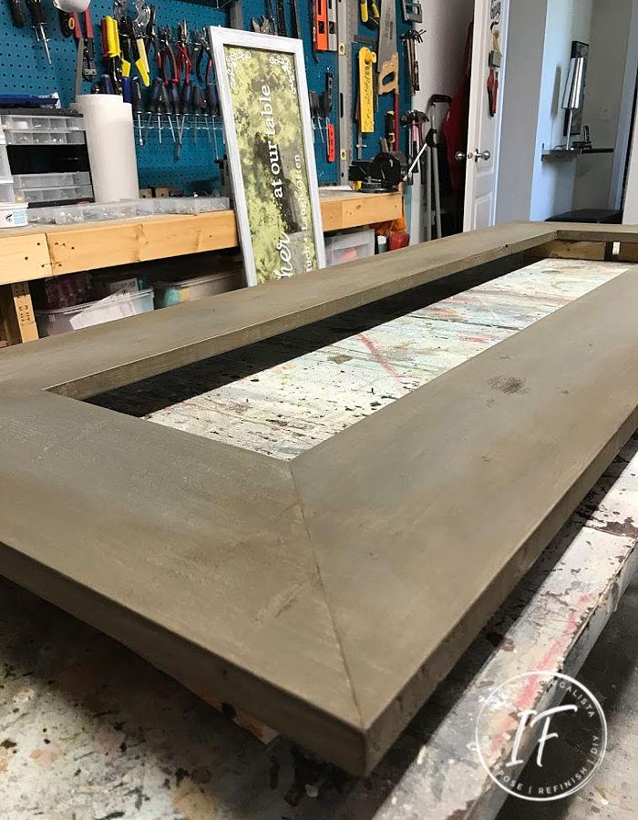 DIY Rustic Mirror Frame